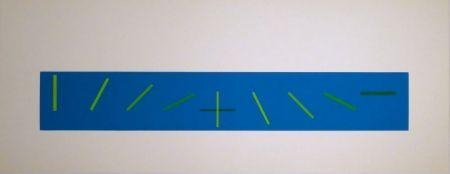 Sérigraphie Vieira - Croisement de directions opposées : 7 condictions de saturation chromatique