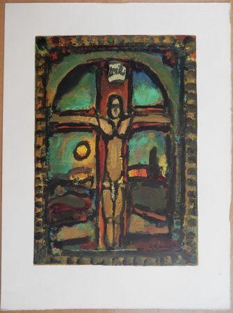 Gravure Sur Bois Rouault - Crucifixion