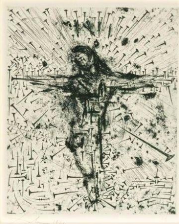 Eau-Forte Dali - Crucifixion, from Apocalypse de Saint Jean
