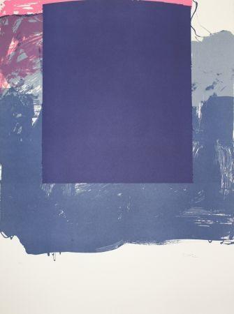 Lithographie Borrell Palazón - Cuadrado azul (Blue Square)
