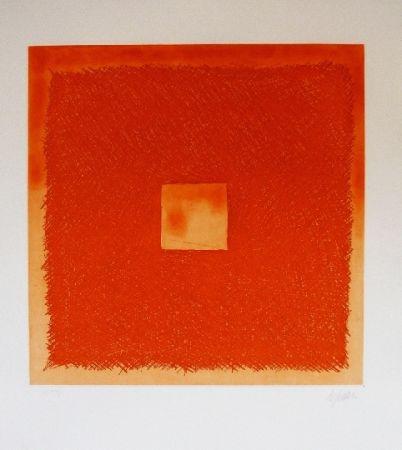 Eau-Forte Et Aquatinte De Juan - Cuadrado naranja