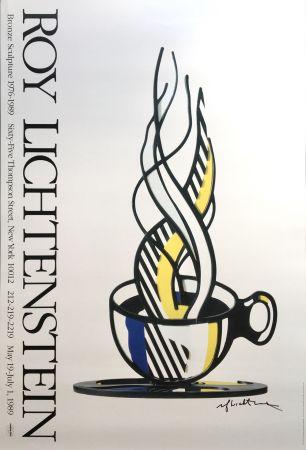 Aucune Technique Lichtenstein - Cup and Saucer II (Hand Signed)