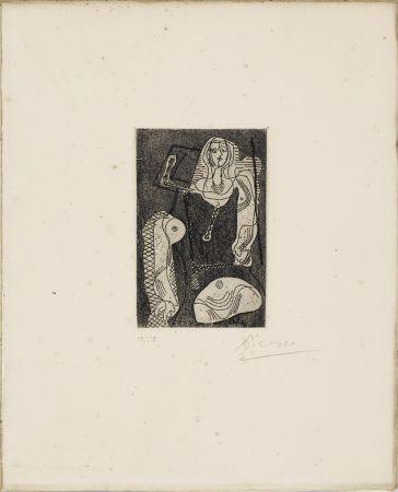 Eau-Forte Picasso - C.Zervos. PICASSO ŒUVRES 1920-1926. Cahiers d'Art », 1926. 1/50 avec l'eau-forte originale signée.