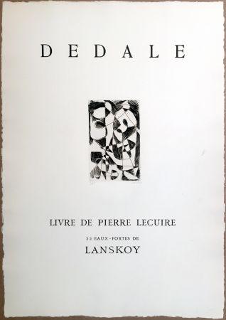 Gravure Lanskoy - DÉDALE. Affiche originale gravée. Livre de Pierre Lecuire (1960)