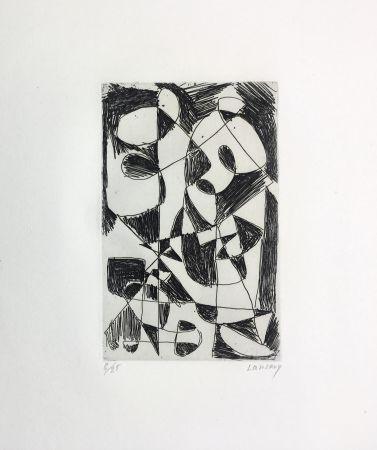 Eau-Forte Lanskoy - DÉDALE. Gravure pour l'affiche de Pierre Lecuire (1960)