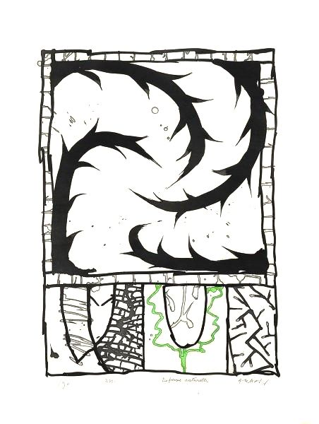 Gravure Alechinsky - Défense naturelle