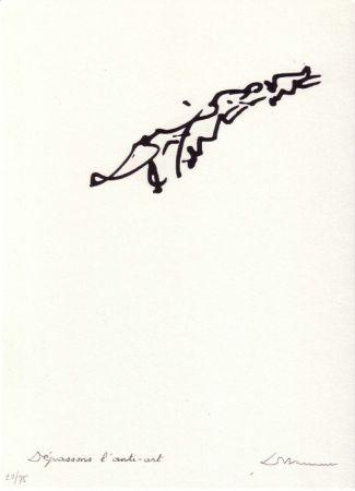 Lithographie Dotremont - Dépassons l'anti-art