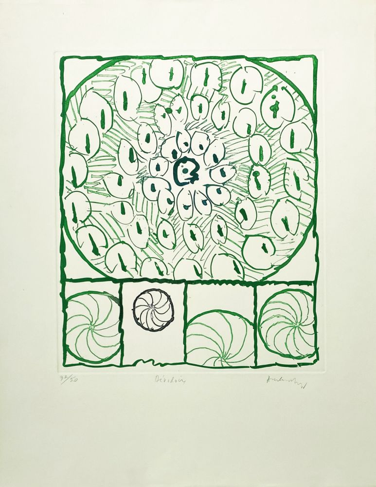 Gravure Alechinsky - Dévidoirs