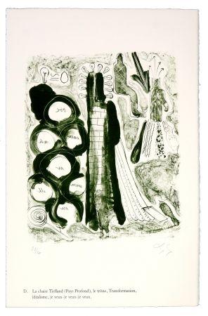 Lithographie Nørgaard - D. La chaise Tiefland (Pays profond), le trône, Transformation, idéalisme, je veux-je veux-je veux