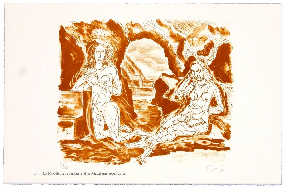 Lithographie Nørgaard - D. La Madeleine et la Madeleine repentante
