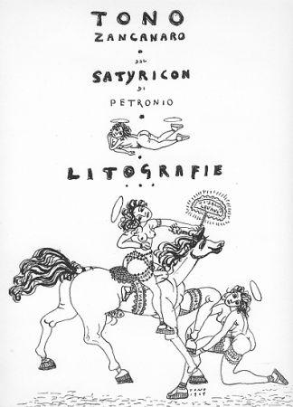 Lithographie Zancanaro - Dal Satiricon di Petronio