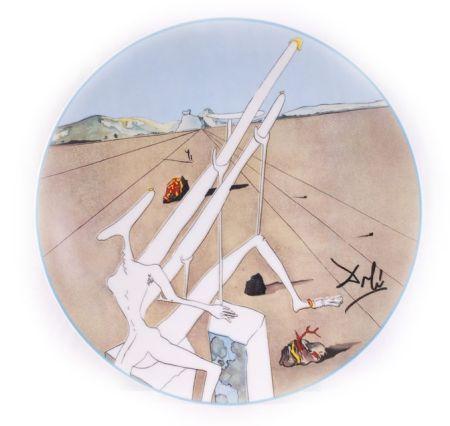 Céramique Dali - Dali Martien Muni D'un Double Microscope Holo-Électrique (La Conquête Du Cosmos)