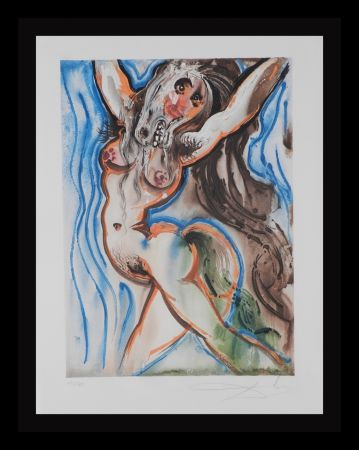 Lithographie Dali - Dalinean Horses Woman-Horse