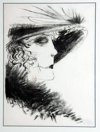 Lithographie Dix - Dame Mit Reiher