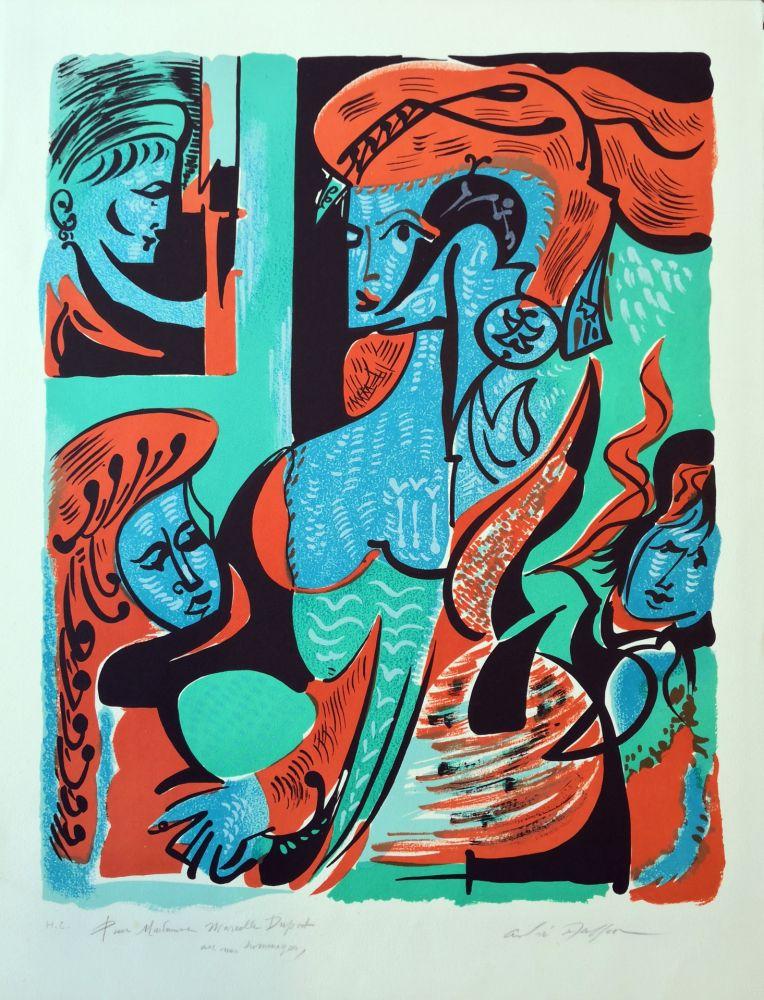 Lithographie Masson - Dames