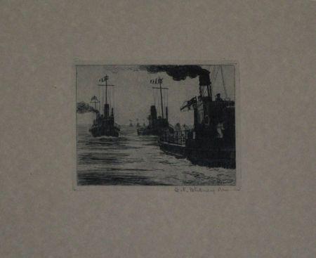 Gravure Hübner - Dampfschiffe / Steamboats