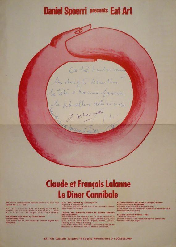 Affiche Spoerri - Daniel presents Eat Art. Lalanne. De Dîner Cannibale