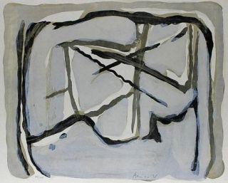Lithographie Van Velde - Dans le filet