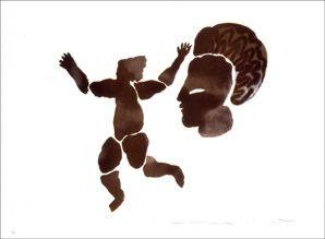 Lithographie Del Re - Danse noire