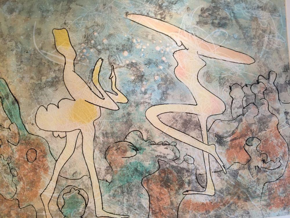 Lithographie Matta - Danseuse