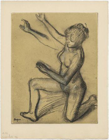 Eau-Forte Et Aquatinte Degas - Danseuse : étude de nu et mouvements (vers 1896)
