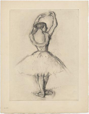 Eau-Forte Degas - Danseuse (étude, vers 1878-1880)