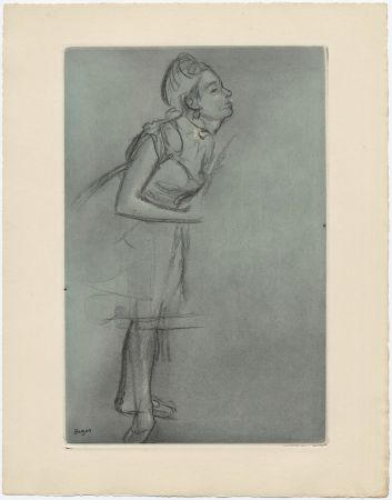 Eau-Forte Et Aquatinte Degas - Danseuse (étude, vers 1878)