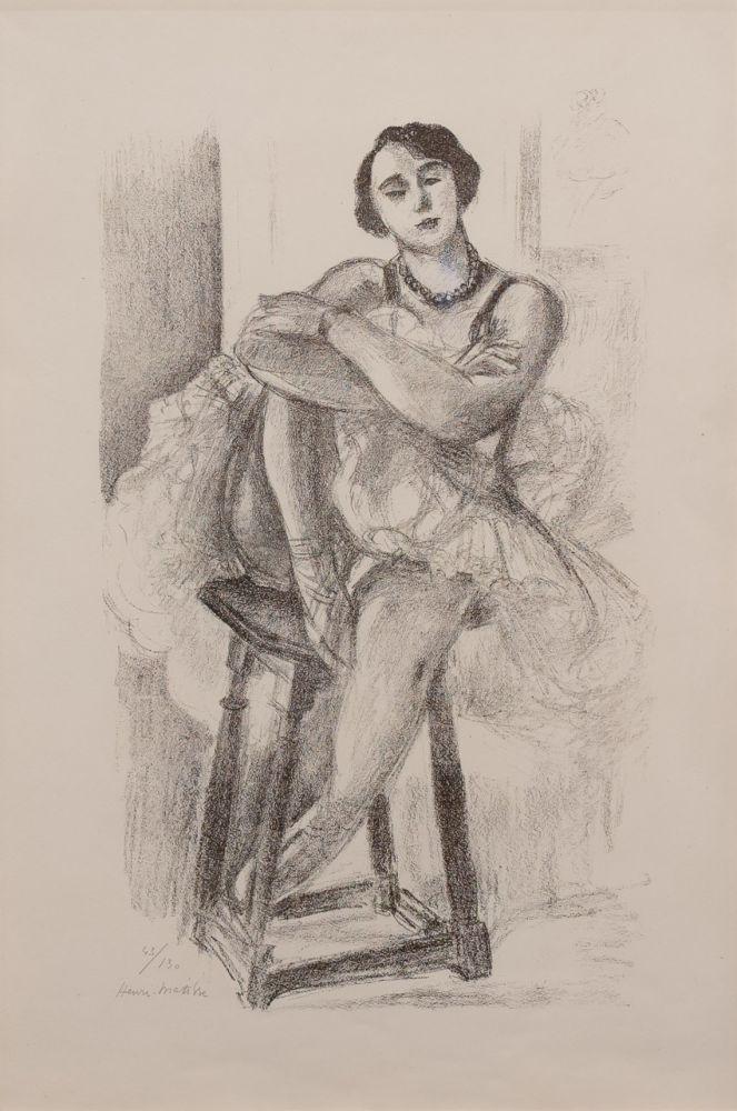 Lithographie Matisse - Danseuse au Tabouret, from Dix Danseuses