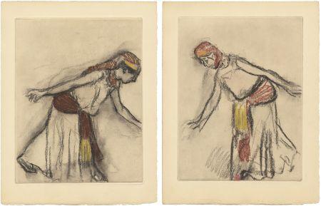 Eau-Forte Et Aquatinte Degas - Danseuse orientale : 2 études (vers 1890)