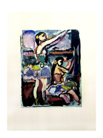 Lithographie Rouault - Danseuses