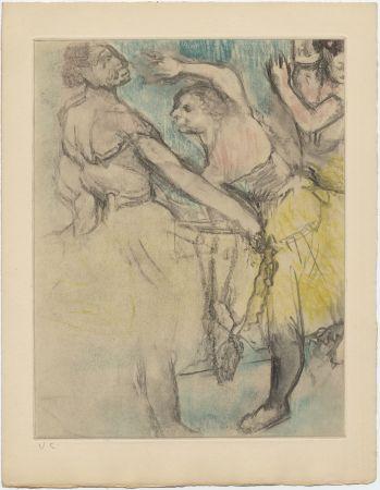 Eau-Forte Et Aquatinte Degas - Danseuses à l'Opéra (étude, vers 1880)