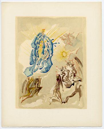 Gravure Sur Bois Dali - Dante recouvre la vue. La Divine Comédie (Le Paradis, Chant 26)