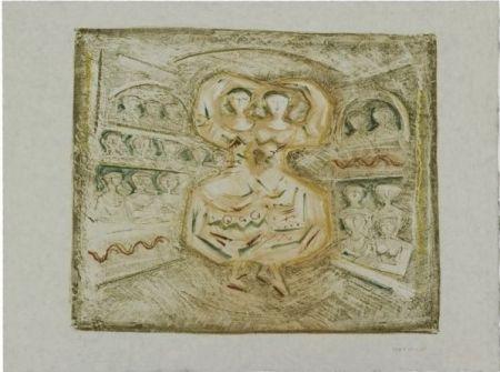 Lithographie Campigli - Danzatrici