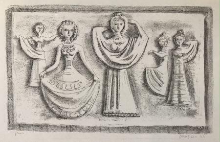 Lithographie Campigli - DANZE NOTTURNE