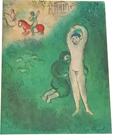 Lithographie Chagall - Daphnis and Chloe