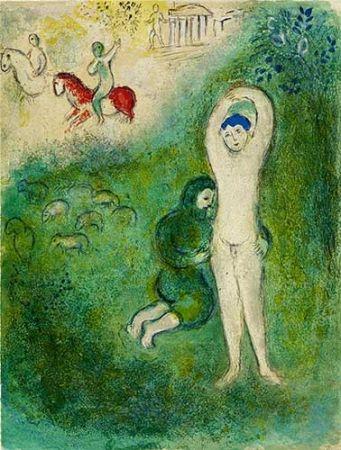 Lithographie Chagall - Daphnis et Gnathon