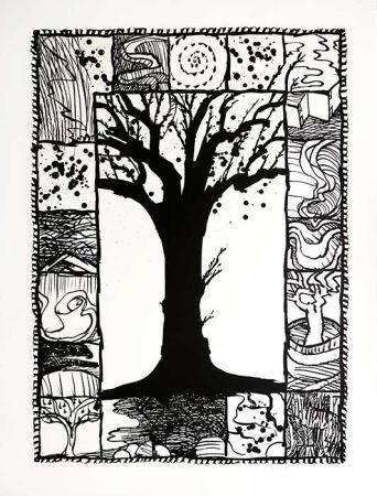 Lithographie Alechinsky - D'arbre et d'encre
