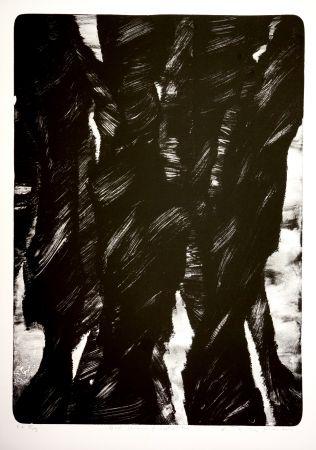 Lithographie Tøjner - Dark shadows of central park