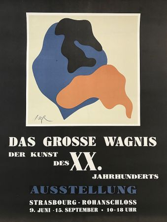 Lithographie Arp - Das Grosse Wagnis