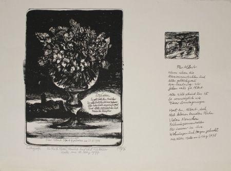Lithographie Müller - Das Leben / Für Albert