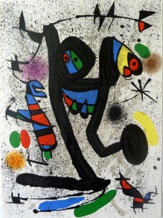 Lithographie Miró - Das Schmetterlingmädchen
