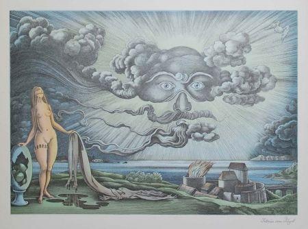 Lithographie Von Gugel - Das Wolkengesicht