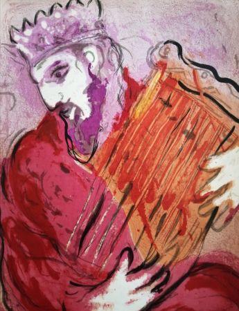 Lithographie Chagall - David