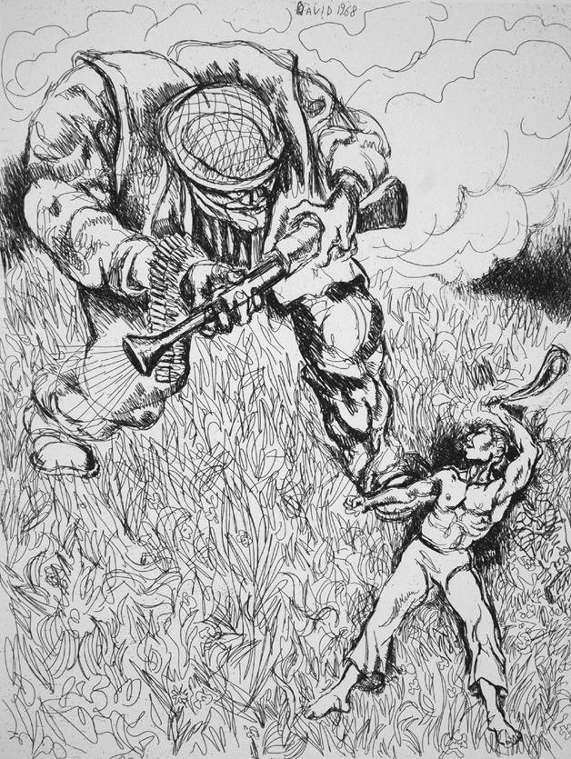 Eau-Forte Guttuso - David 1968