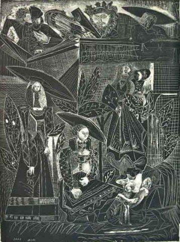 Lithographie Picasso - David et Bethasabéé