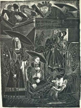 Lithographie Picasso - DAVID Y BETHSABÉE