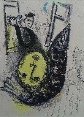 Eau-Forte Et Aquatinte Chagall - De Mauvais Sujets,plate nr.3