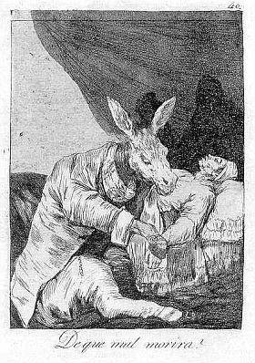 Eau-Forte Et Aquatinte Goya - De que mal morirà?