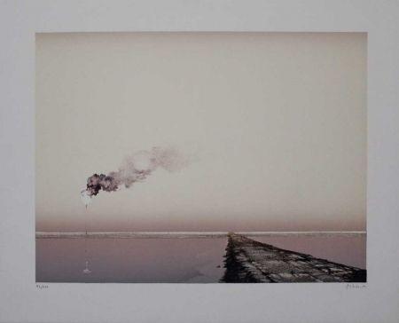 Lithographie Erhardt - Deich