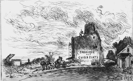 Eau-Forte Jongkind - Demolitions de la rue des Francs-Bourgeois Saint-Marcel